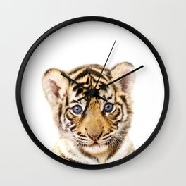 Baby Tiger, Baby Animals Art Print By Synplus Wall Clock