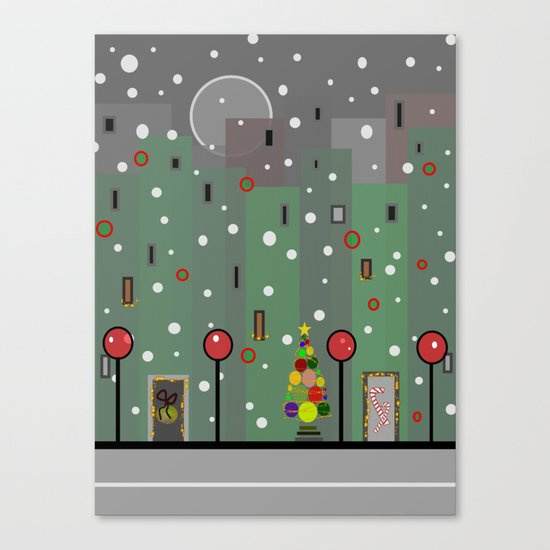City Christmas Canvas Print