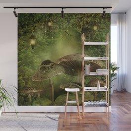 Enchanted Mushrooms Wall Mural