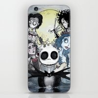 tim burton iPhone & iPod Skins featuring Burton Madness by Infell