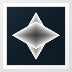triangular elements Art Print