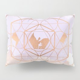 Light Me Up and Away - Copper Rose Gold Pillow Sham