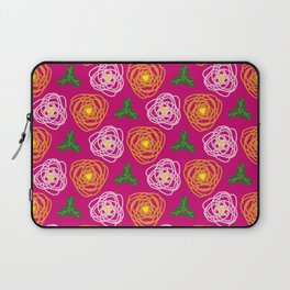 Bright pink floral Laptop Sleeve