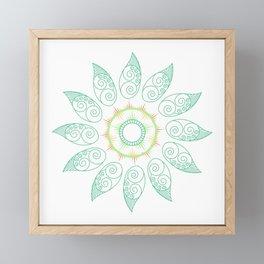 Decorative leaf Mandala Framed Mini Art Print
