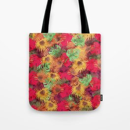 Seamless Pattern of Tropical Leaves Tote Bag