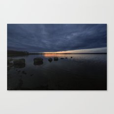 Sunset Rock Silhouettes Canvas Print