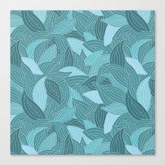 My dancing blue leaves.  Canvas Print