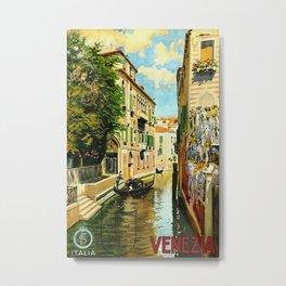 Venezia - Venice Italy Vintage Travel Metal Print