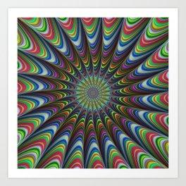 Psychedelic star Art Print