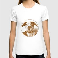 pit bull T-shirts featuring Pit Bull by George Peters