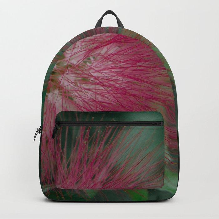 Calliandra. Flower. Backpack