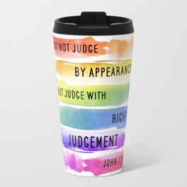 Do Not Judge By Appearances John 7:24 Travel Mug