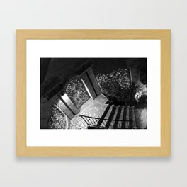 Doorway - black and white Framed Art Print