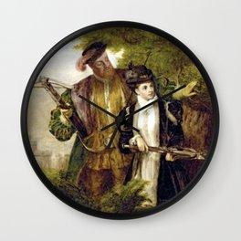 Tudor Romance - Henry VIII and Anne Boleyn hunting Wall Clock
