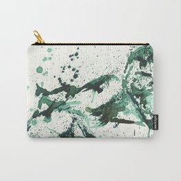 GREEN - SPLATTER ARTWORK Carry-All Pouch