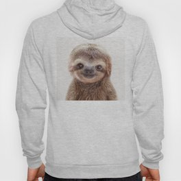 Baby Sloth, Baby Animals Art Print By Synplus Hoody
