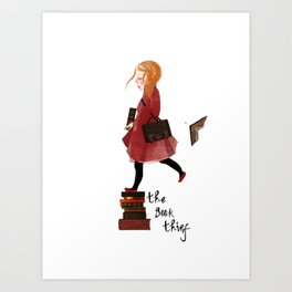 "Homage to ""The Book Thief"" Art Print"