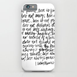 love is patient, love is kind iPhone Case