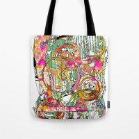 artsy Tote Bags featuring Artsy Lines by Ingrid Padilla