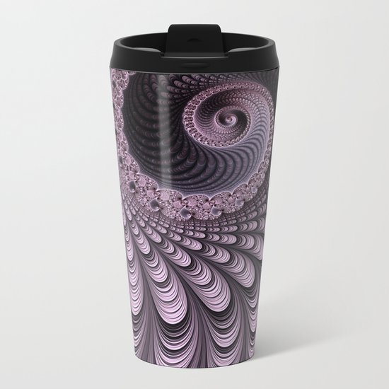 Curves and Folds Metal Travel Mug