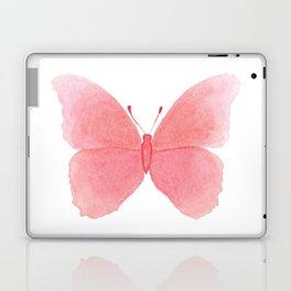 Watermelon pink butterfly Laptop & iPad Skin