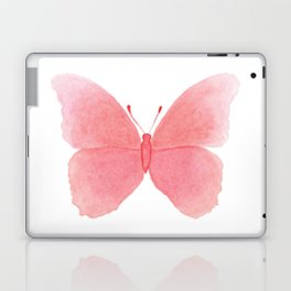 Watermelon pink butterfly Laptop & iPad Skin