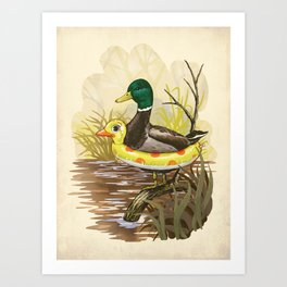 Duck in Training Art Print