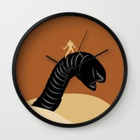 dune Wall Clocks featuring Dune by FilmsQuiz