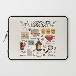 A Bookworm's Belongings Laptop Sleeve