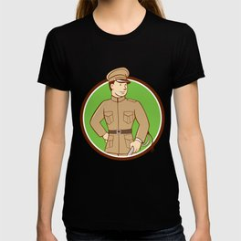 World War One British Officer Circle Cartoon  T-shirt