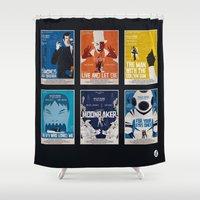 bond Shower Curtains featuring Bond #2 by Alain Bossuyt