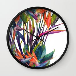 The bird of paradise Wall Clock