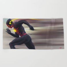 Reverse Flash Beach Towel