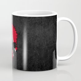 Flag of Trinidad and Tobago on a Chaotic Splatter Skull Coffee Mug