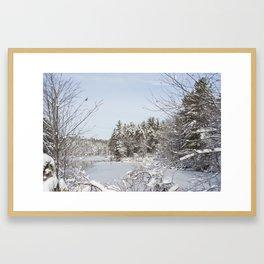 Emerging From the Snowy Brush Framed Art Print