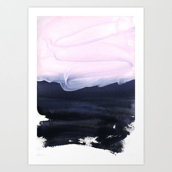 pink & blue Art Print