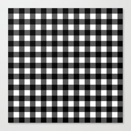 Plaid (Black & White Pattern) Canvas Print