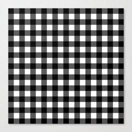 Plaid (Black & White Pattern) Canvas Print