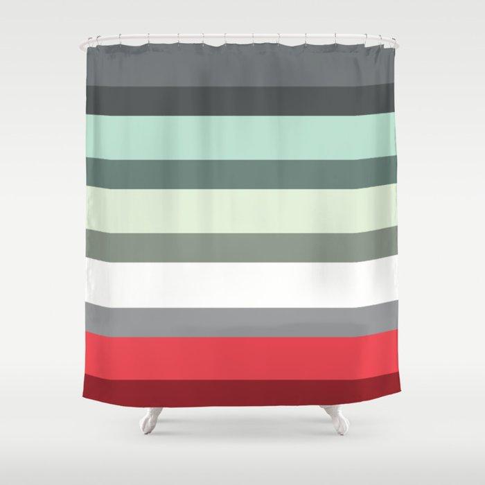 Accordion Fold Series Style E Shower Curtain