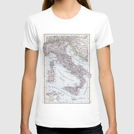 Vintage Map of Italy (1905) T-shirt