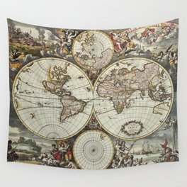 Planisphere wall tapestries society6 vintage world map wall tapestry gumiabroncs Images