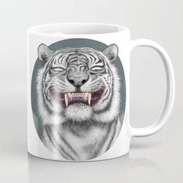 Smiling Tiger - monotone Coffee Mug
