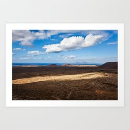 view from volcano Art Print