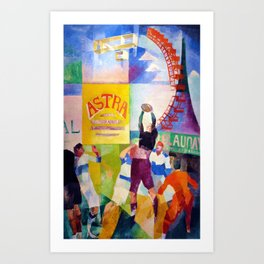 Robert Delaunay - The Cardiff Team - Digital Remastered Edition Art Print