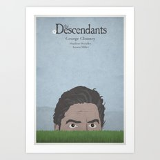 The Descendants - minimal poster Art Print