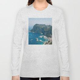 Italy, Capri Landscape View Long Sleeve T-shirt