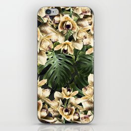 Hot Summer Tropical Orchid Jungle Print iPhone Skin