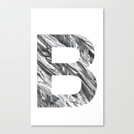 The Letter B- Stone Texture Canvas Print
