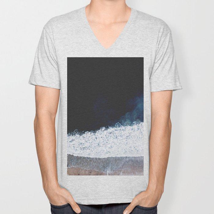 Ocean III (drone photography) Unisex V-Neck