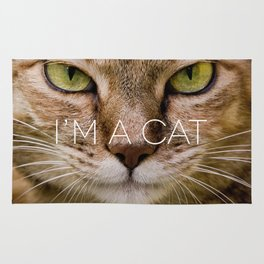 I'M AN ANIMAL // i'm a cat Rug